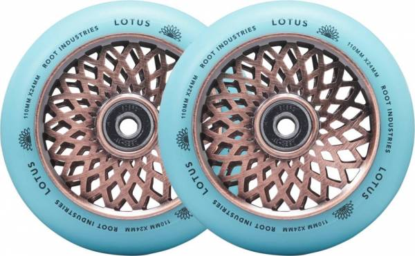 Root Industries Lotus Wheels 110 mm - copper / isotope
