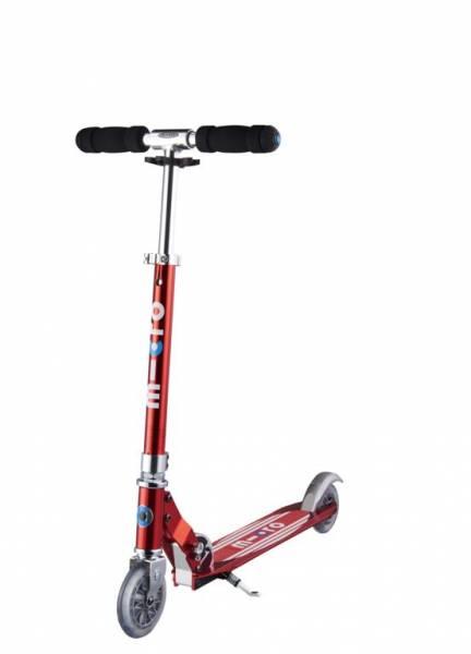 Micro Scooter sprite, rot mit Streifen