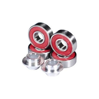 MGP Krunk K1, 4 Kugellager + 2 Spacer, rot