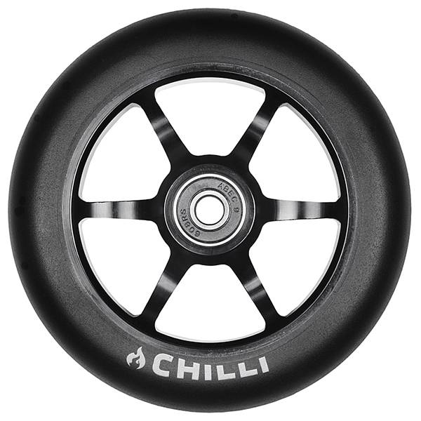 Chilli Spoke Wheel, black-black, 120 mm