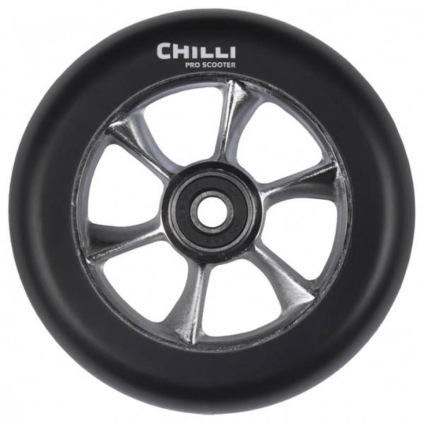 Chilli Turbo Wheel, black-raw core, 110 mm