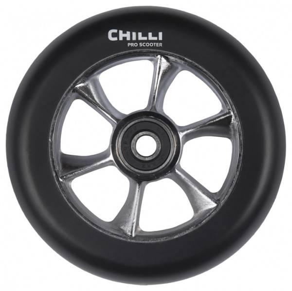 Chilli Turbo Wheel, black-raw core, 110 mm