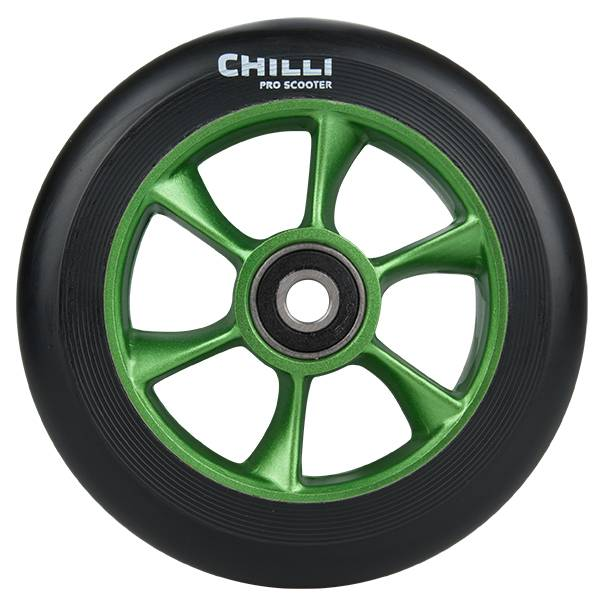 Chilli Turbo Wheel, black-green, 110 mm