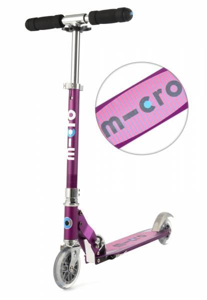 Micro Scooter sprite, lila mit Streifen