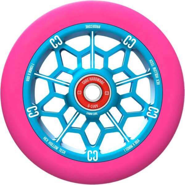 Core Hex Hollow Wheel 110, pink-blue