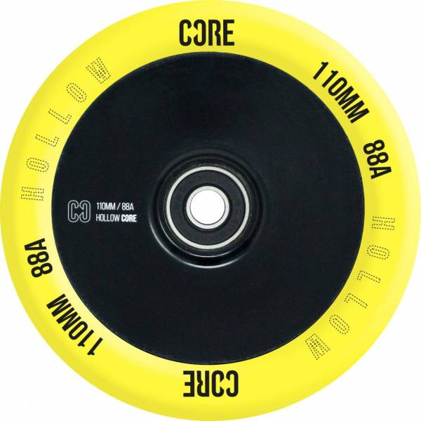 Core Hollow V2 Disc Wheel 110, yellow-black